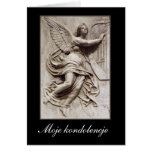 In Sympathy - Polish - Angel with Harp Cards