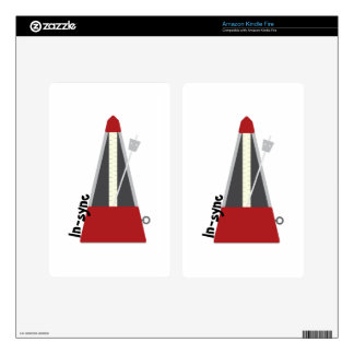 In Sync Metronome Kindle Fire Decal