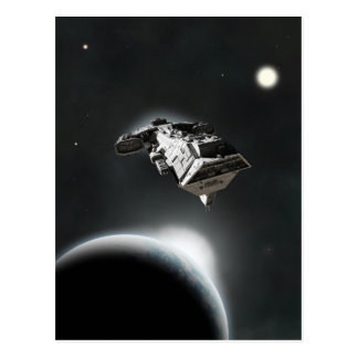 In System - Science Fiction Battle Cruiser Postcard