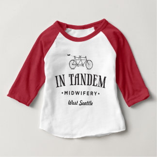 In Tandem Midwifery Baby 3/4 Sleeve Raglan T-Shirt