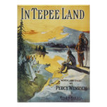 In Tepee Land Vintage Songbook Cover Poster