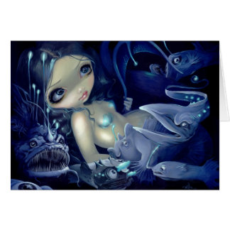 """""""In the Abyss"""" Greeting Card"""