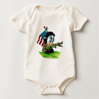 in the airforce baby bodysuit