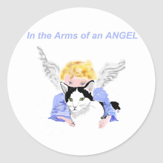 In The Arms of An Angel Classic Round Sticker
