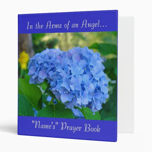 """In the Arms of an Angel Prayer Book """"Personalize"""" 3 Ring Binders"""