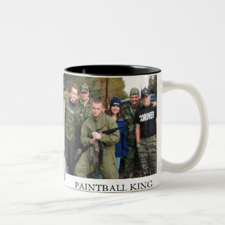 In The Army, anthony gun small, PAINTBALL KING Two-Tone Coffee Mug