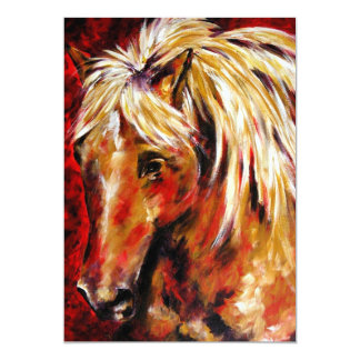 In The August Wind Palomino Horse 5x7 Mini Prints Invitations