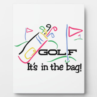 In the Bag Plaque