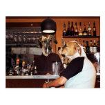 In the bar postcard
