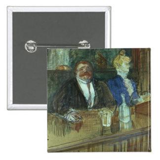 In the Bar: The Fat Proprietor 2 Inch Square Button