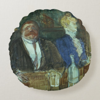 In the Bar: The Fat Proprietor Round Pillow