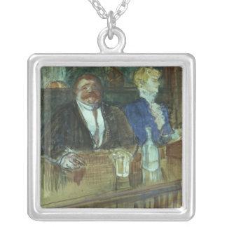In the Bar: The Fat Proprietor Square Pendant Necklace