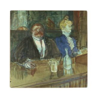 In the Bar: The Fat Proprietor Wood Coaster