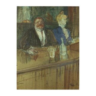 In the Bar: The Fat Proprietor Wood Wall Art