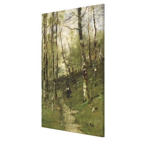 In the Barbizon Woods in 1875 Canvas Print