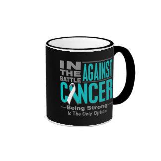 In the Battle Against Cervical Cancer Ringer Coffee Mug