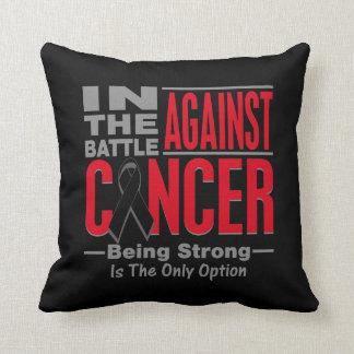 In The Battle Against Melanoma Throw Pillow