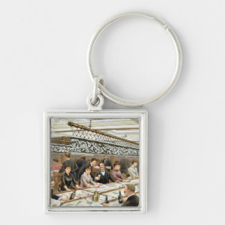 In the Bay, Dinner Time - A Western Ocean Swell, f Keychain
