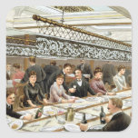 In the Bay, Dinner Time - A Western Ocean Swell, f Square Sticker