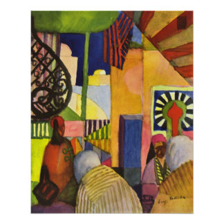 In the bazaar by August Macke Poster