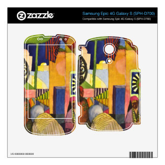 In the bazaar by August Macke Decals For Samsung Epic