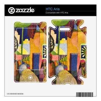 In the bazaar by August Macke Decal For The HTC Aria