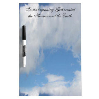 In The Beginning God Created .... Cloud Dry-Erase Board