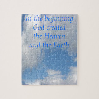 In The Beginning God Created .... Cloud Jigsaw Puzzle