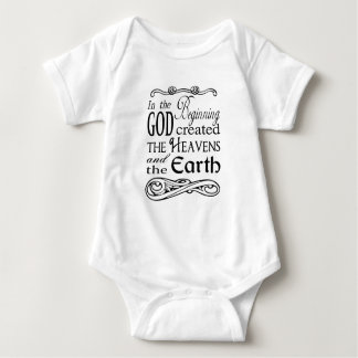 In the Beginning God Created Heavens and Earth Baby Bodysuit