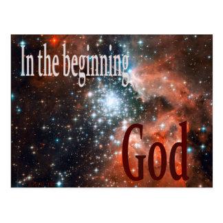 In the Beginning God Postcard