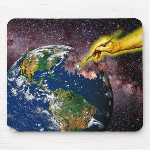 """""""In the beginning..."""" Mouse Pad"""
