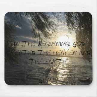 In the beginning mouse pad