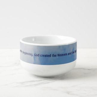 In the beginning soup mug
