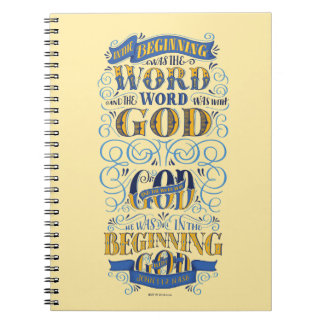 In the Beginning Was the Word Spiral Notebook