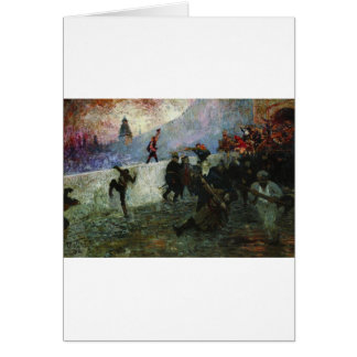 In the besieged Moscow in 1812 by Ilya Repin Card