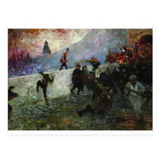 In the besieged Moscow in 1812 by Ilya Repin Postcard