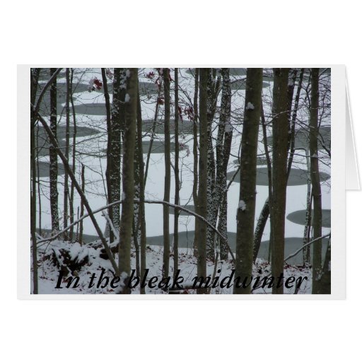 In the Bleak Midwinter Greeting Card