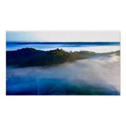 In the blue   poster print aerial photograph