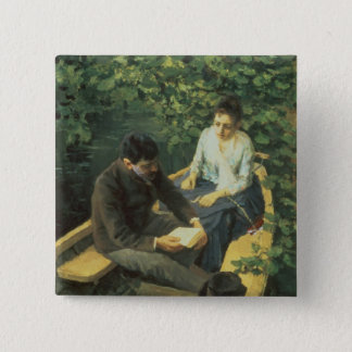 In the Boat, 1888 Pinback Button