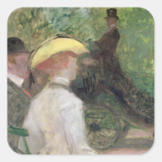 In the Bois de Boulogne, 1901 (oil on canvas) Square Sticker