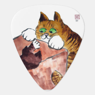 In the Box - Cat and Kitten Play Guitar Pick