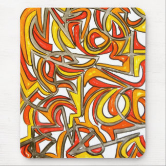 In The Bush-Abstract Art Hand Painted Mouse Pad