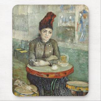 In the café: Agostina Segatori in Le tambourin Mouse Pad