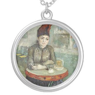 In the café: Agostina Segatori in Le tambourin Round Pendant Necklace