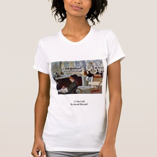 In The Café By Manet Edouard Shirts