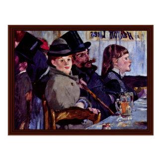 In The Café: Cabaret By Reichshoffen Postcard