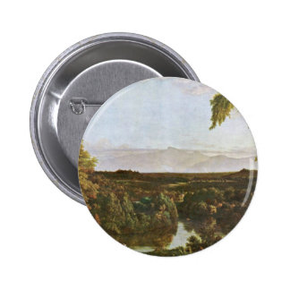 In The Catskills By Cole Thomas (Best Quality) Pinback Buttons