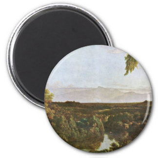 In The Catskills By Cole Thomas (Best Quality) 2 Inch Round Magnet