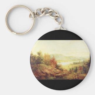 In the Catskills', Jasper F. Cropsey_Landscapes Keychain
