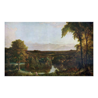 In the Catskills -Thomas Cole by Frederick  Church Poster